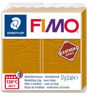 FIMO leather effect  ochra 179