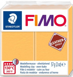 Modelina FIMO leather effect  żółty 109